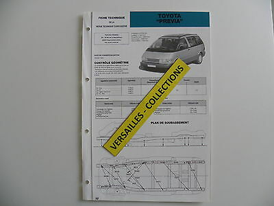 Fiche technique automobile carrosserie TOYOTA PREVIA