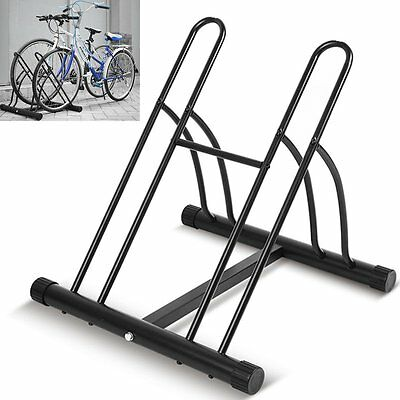 2 Bike Floor Wall Mount Bicycle Cycle Rack Storage Locking Stand Garage Shed