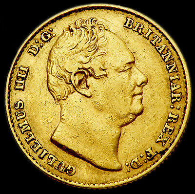 KING WILLIAM THE IV 1837 GOLD SOVEREIGN....Near Extra Fine Condition.
