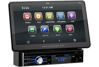 "Boss Bvs10.1B Single Din Car 10.1"" Monitor Bluetooth Dvd Player Stereo Receiver"