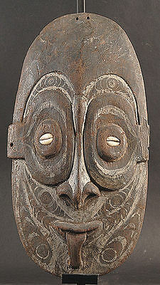 Old Worn Ancestor Spirit Face  Middle Sepik River  Papua New Guinea