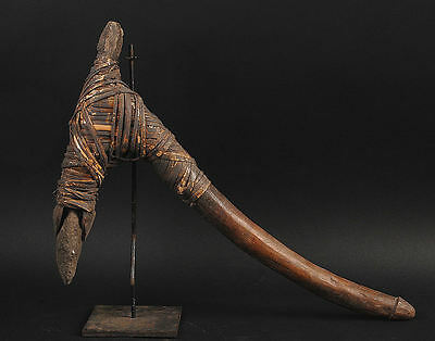 Old Adze For Making Sago Stone Blade   Middle Sepik River Papua New Guinea