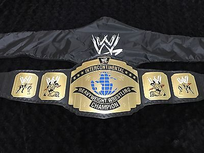 Wwe Wwf  Intercontinental Replica Championship Custom Made Belt With Black Strap