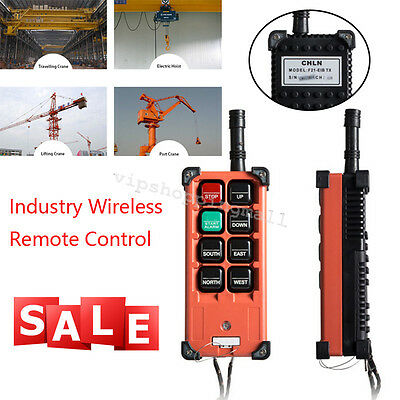 Transmitter&Receiver Hoist Crane Radio Industrial Wireless Remote Control Easy