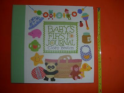 baby's first journal clare beaton barefoot books record first year life memories