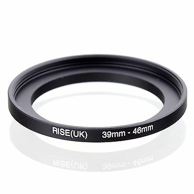 RISE(UK) 39-46mm 39mm to 46mm Matel Stepping Up Step-up Fiter Ring Adapter 39-46