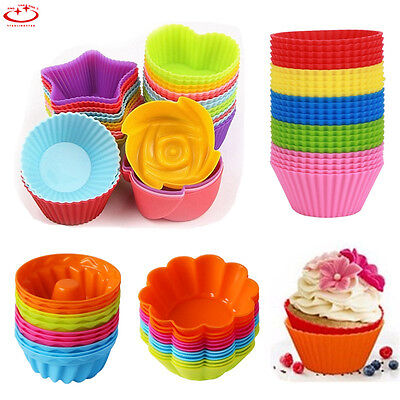 Silicone Cake Muffin Chocolate Cupcake Bakeware Baking Cup Cookie Mold 6 Styles
