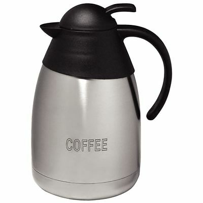 Olympia Vacuum Jug Domed Lid Coffee Espresso Thermal Insulated Flask Pitcher