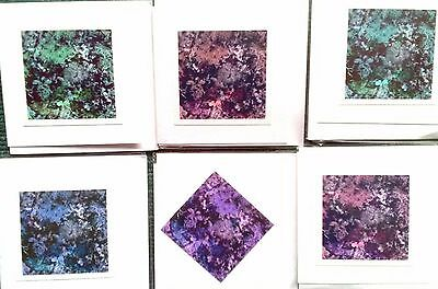 6 x HANDMADE ORIGINAL PHOTO CARDS Lichen