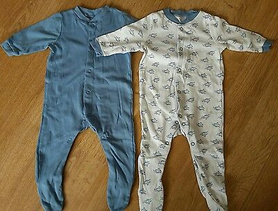 New adorable blue baby boy sailor sleepsuits 3-6 months Lily & Dan - bnwt
