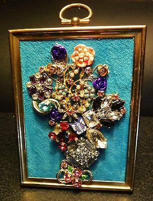 Mini Jewelry Art Bouquet, full of Color & Sparkle, signed by Artist