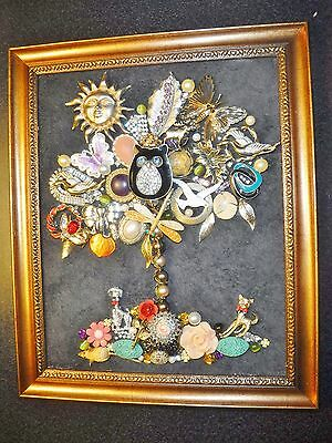 Vintage Jewelry Tree of Life, full of Natures Animals, Signed by Artist
