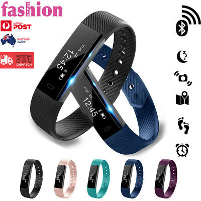 Sports Fitness Tracker Fit Smart Wrist band Watch bit For Android iPhone