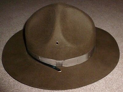 Campaign Hat ARMY USMC USN Trooper Brown Drill Sergeant USA Wool Felt 7 5/8 New