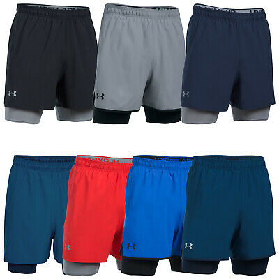 Under Armour Mens Qualifier 2-In-1 Training Shorts - New Running Sports Gym 2017