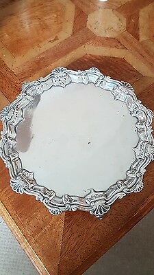 Solid Silver Card Tray C1902