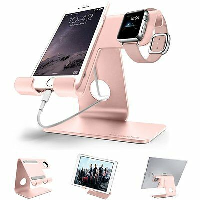Universal 2 in 1 Desktop cell phone stand tablet stand holder,ZVE aluminum apple