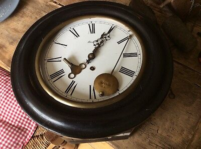 Antique School Wall Clock School Station Spares Or Repairs