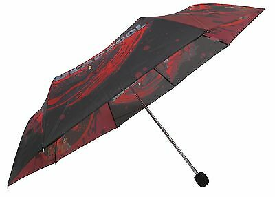 Marvel Splatter Deadpool Adult Red and Black Compact Umbrella - MCR65373ST