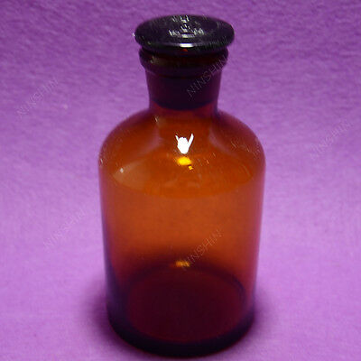 250ml Amber Glass Reagent bottle,narrow mouth,Ground stopper,Lab bottle