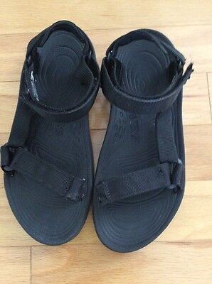 Teva Sport Hiking River Sandals Mens Size 9  Black  Shoc Pad