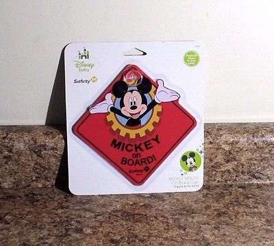 Disney Baby Mickey Mouse On Board Window Sign NEW