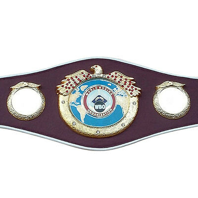 WBO Boxing Replica Championship Belt Metal Plates Mini Premium Quality Leather