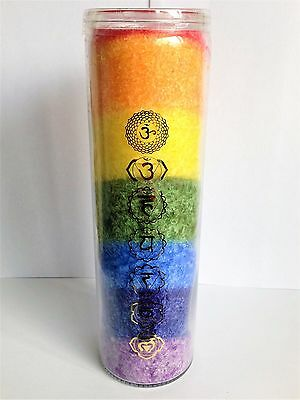 CHAKRA CANDLE - With Essential Oils For Mind Body & Spirit - Same Day Despatch