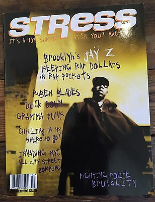 Stress Hip Hop Music Magazine Jay-Z Cover 1996 Rare Collectors
