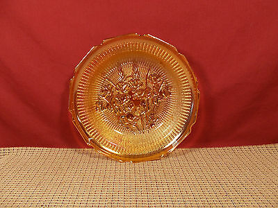 Jeannette Depression Glass Iris & Herringbone Iridescent Soup Bowl 7 7/8""