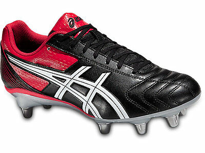 Asics Lethal Tackle Men's Rugby Boots (Black/Red)
