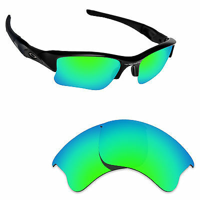 e73d88bb0a Hawkry Polarized Replacement Lenses for-Oakley Flak Jacket XLJ Emerald Green