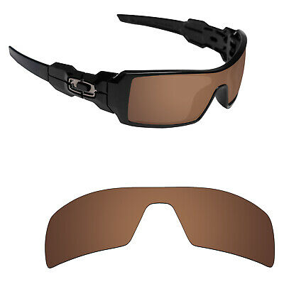 8661ed522ec Hawkry Polarized Replacement Lenses for-Oakley Oil Rig Sunglass Bronze Brown