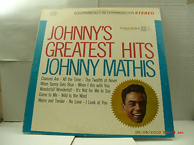 """Johnny Mathis-(Lp)-Johny's Greatest Hits - Stereo """"chances Are"""" - Columbia- 1962"""