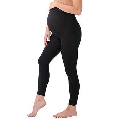 NEW Summer Soft Stretchy Cotton Black Maternity Leggings Over the bump Support