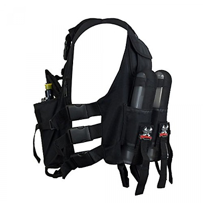Maddog Sports Lightweight Tactical Paintball Vest with Tank and Pod Holder Atta