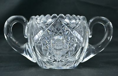Vintage American Brilliant Cut Sugar Bowl likely Pairpoint