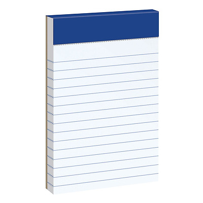 """Ampad 20-208 Evidence 3"""" x 5"""" Narrow Perforated Writing Pads - White (12 Pads"""