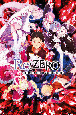 FP4472 Re-Zero Key Art Maxi Size Wall Poster size 61 X 91.5 cm