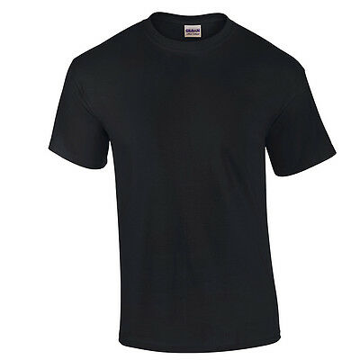 Black LOW PRICE Blank Men's T Shirt Plain Work Mens Gildan Tee