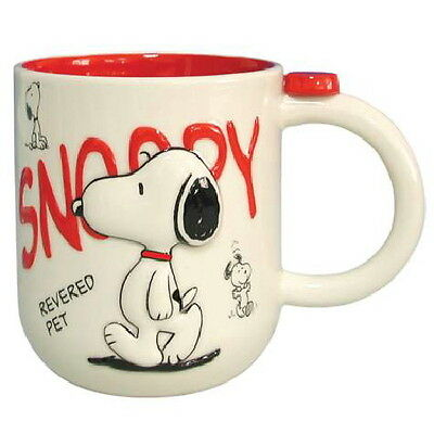 Peanuts Snoopy Revered Pet Raised Image Ceramic Mug, NEW UNUSED