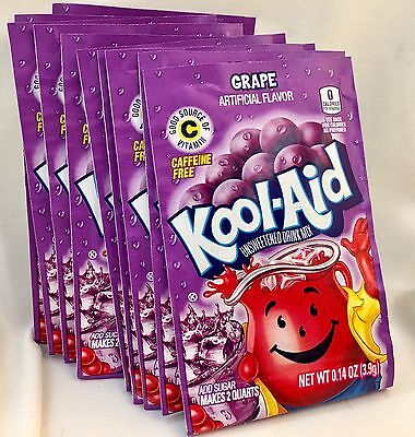 24 Grape Kool-Aid Drink Mix Gluten Free Unsweetened Exp 2018