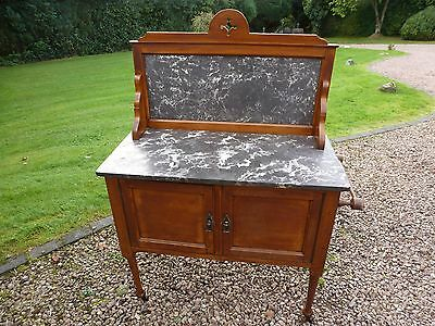 Antique Edwardian Marble Topped Washstand