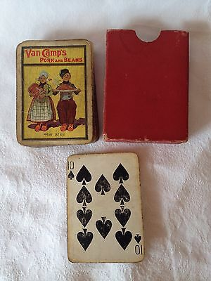 Vintage 1907 VAN CAMP'S Pork and Beans Advertising Deck of Pinochle Cards