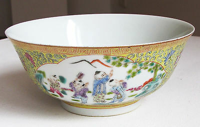 China Porzellan Schale Republik porcelain bowl republic marked playing boys