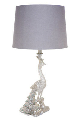 NEW Peacock Table Lamp