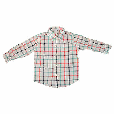 NEW Boys Janie and Jack Plaid Button Up Long Sleeve Boy Shirt 12-18M
