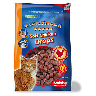 Nobby Chats Starsnack Doux Poulet Drops 85 g, NEUF