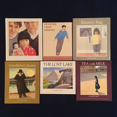 Lot of 4 Children's Picture Books Allen Say: Allison Grandfather's Journey & ...