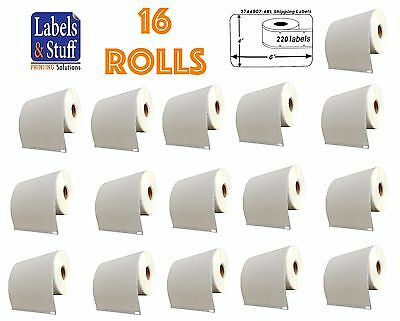 16 Rolls of 220 4x6 Shipping Postage Labels 1744907 compatible For DYMO® 4XL